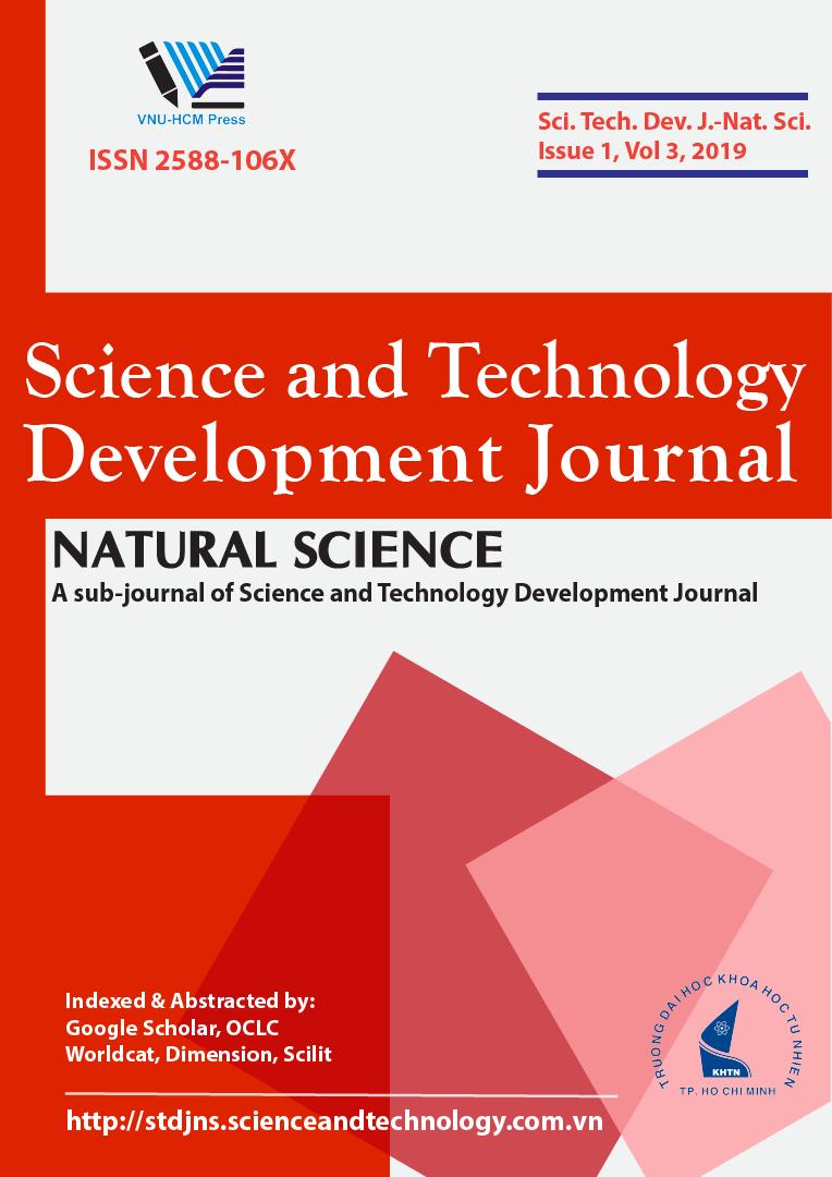 Tạp chí Phát triển Khoa học và Công nghệ - Khoa học Tự nhiên